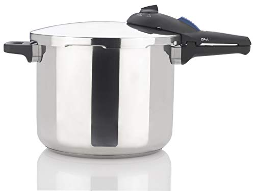 Zavor ZPot 10 Quart 15-PSI Pressure Cooker and Canner - Polished Stainless Steel (ZCWSP03) (Best 10 Qt Pressure Cooker)
