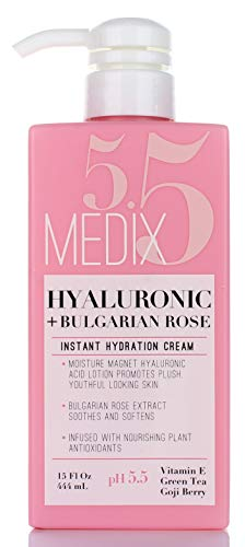 31q6geQmz1L - Medix 5.5 Hyaluronic Acid Cream w/Bulgarian Rose for face & body. Intense hydrating cream for wrinkles & fine lines. Anti-Aging Cream w/Goji Berry, Green Tea, Vitamin E. 15oz (15oz)