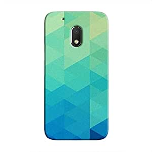 Cover It Up Blue Pixel Hard Case For Moto G4 Play