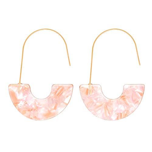 D-buy Acrylic Earrings Statement Half Ring Geometric Earrings Resin Drop Dangle Earrings Fashion Jewelry for Women…