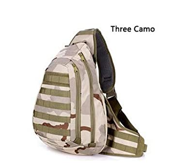 KWELJW Chest Sling Pack A4 One Single Shoulder Man Big Large Ride Travel Backpack Bag Advanced Three Camo: Amazon.es: Deportes y aire libre
