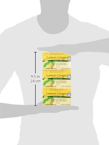 Bigelow Classic Lemon Ginger Herbal Tea Plus Probiotics 18 Bags (3 Pack) by Bigelow Tea (Image #6)