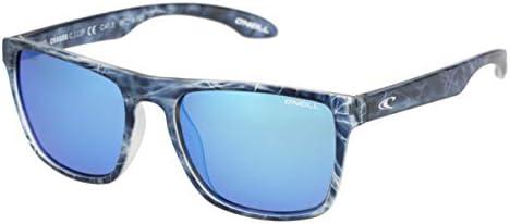 O'Neill CHAGOS Polarized Square Sunglasses, Matte Blue Water, 55 mm