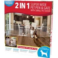 DPD 2 in 1 Super Wide Pen & GATE W/Door Brackets - Size: 144WX28H in - Color: White
