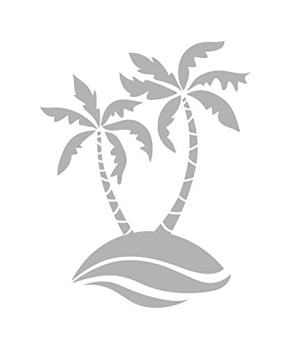 (Palm Waves - Coastal Design Series - Etched Decal - For Shower Doors, Glass Doors and Windows - 18