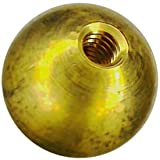 12 1-1/4'' threaded 5/16-18 brass balls drilled tapped lamp finials