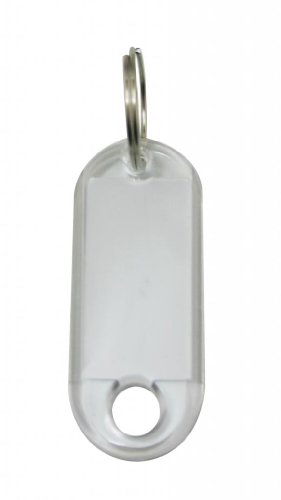 Yongshida ID Labels Tags with Label Window Ring Holder Color Transparent White Pack of 100 by Yongshida