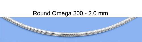 925 Argent Fin Italien Ronde Oméga Collier (Longueur disponible 40cm, 45cm, 50cm)