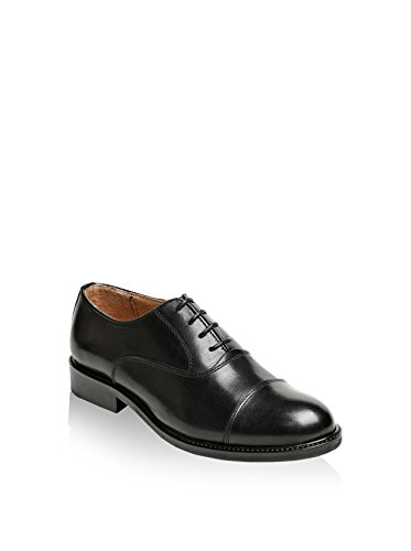 British Passport Zapatos Oxford Toe Cap Negro EU 36
