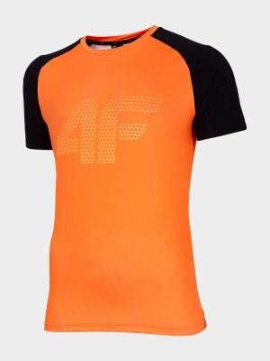 4F TSMF010 - Camiseta funcional, color naranja: Amazon.es: Deportes y aire libre
