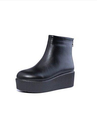 5 Cn39 Tacón Plano Zapatos Eu39 Eu36 Uk3 White us5 Xzz Blanco Casual De Cn35 Negro Uk6 Poliéster Punta 5 Mujer Botas us8 Redonda Black atIawnqHdx