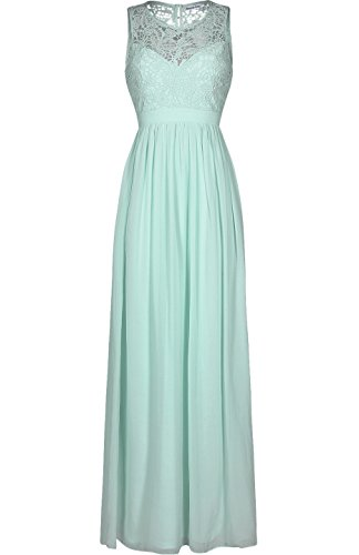 Absolute Rosy Women's Sleeveless Lace Prom Bridesmaid Long Evening Dress Mint - Homecoming Dresses Prom Sparkle