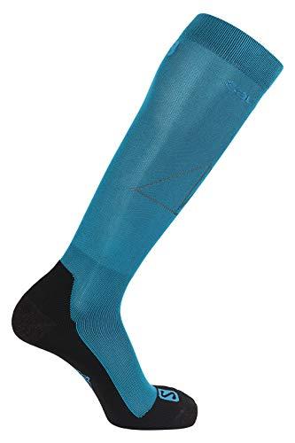 Salomon, 1 Paire de Chaussettes Hautes, Unisexes, QST, Polypropylène/Polyamide, Taille S (36-38), Bleu (Lyons Blue/Fjord Blue), LC1247700