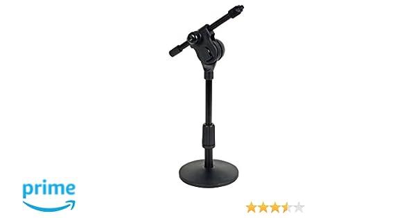 HQ Power MICTS5 soporte de mesa para micrófono - negro: Amazon.es ...
