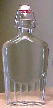 Bormioli Roccoo Italian Glass Flask Bottle 17 Ounce - 12 Pieces - Clear by Bormioli Rocco