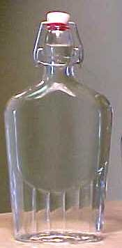 Bormioli Rocco 8 Ounce Glass Pocket Flask with Swing Top 30 Piece Master Carton