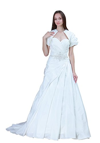 Vogue007 Womens Sweetheart Satin Wedding Dress with Wraps, ColorCards, 16 by Unknown