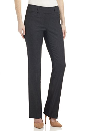 (Rekucci Women's Ease in to Comfort Fit Barely Bootcut Stretch Pants (16SHORT,DK Charcoal))