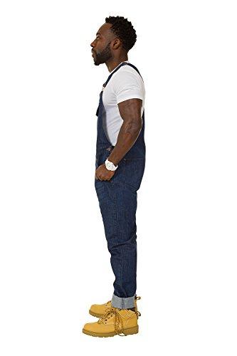 USKEES Jesse Latzhose, Skinny Fit - Indigoblau Denim Overalls Slim Leg jean herr JESSEINDIGO