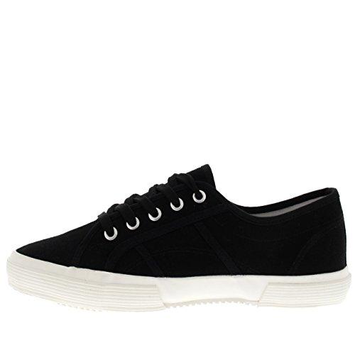 Hommes Formateurs blanc Chaussures Mode Plimsolls Décontractée Noir Pompes Les Festival Plates Lacer BqBrHAPw