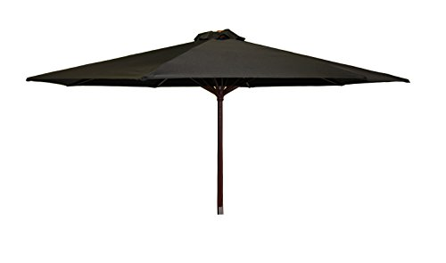 (Heininger 1290 DestinationGear Classic Wood Black 9' Market Umbrella )