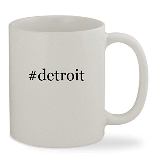 Detroit   11Oz Hashtag White Sturdy Ceramic Coffee Cup Mug