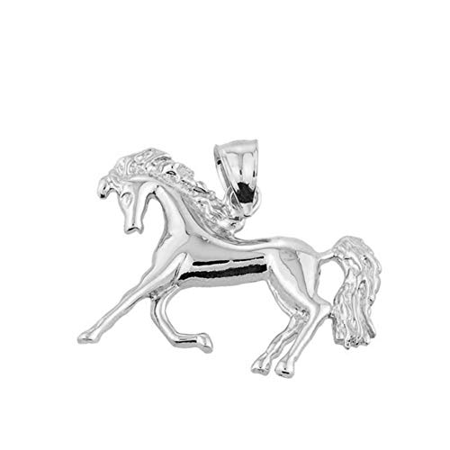 - Good Luck Charms 925 Sterling Silver Running Horse Charm Pendant