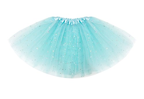 Tutus for Girls Ballet Skirts Tulle Stars Sequins Dance Costume Layered Party Dress (KB104) Mint