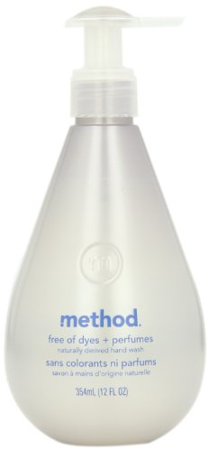 Method Hand Wash, Free of Dyes + Perfumes, 12-Ounce Bottle (Pack of 6)
