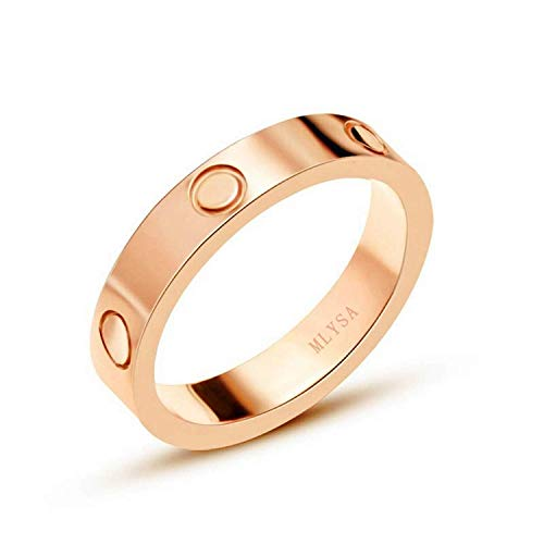 (Mintrayor Love Ring-Rose Gold Lifetime Just Love You 4MM in Width Sizes 10)