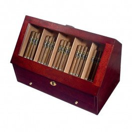 Orleans Group Counter Top Display Humidor, Cherry, 200 (Commercial Cigar Humidors)