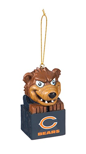 - Team Sports America 3OT3805MAS Chicago Bears Mascot Ornament