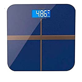 IONIX Digital Weight Machine for Human Body Weight, 180 Kg Capacity, Black with 1 Inch Tape