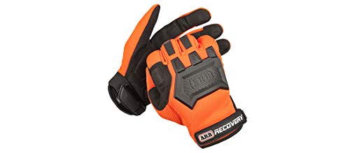 ARB Premium Recovery Winch Offroad Work Gloves Unisex, Cut and Impact Resistant, Hi-Vis Orange, All Purpose, Touch Screen Compatible, Adjustable Wrist Strap, Tactile Padded Palms, One Size Fits Most