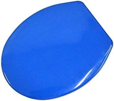 HZDXT 尿素 - ホルムアルデヒドと便座は、O/V/U形状互換性の便座、ブルーのために抗菌超耐性トイレのふたをスローダウン