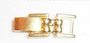 4.87mm Gold Tone Brass Fold Over Watch Bracelet Extender by Lisas Unique Gifts N More - Gold Fold Over Clasp