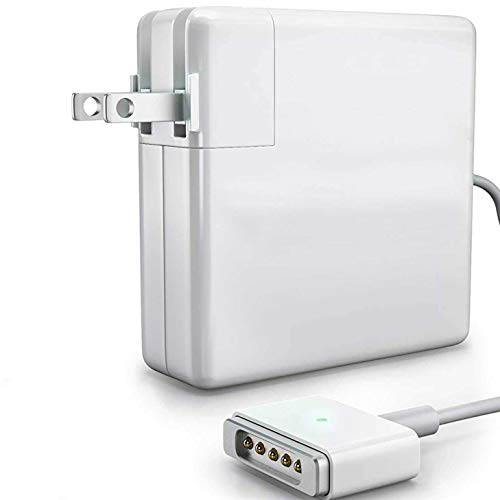 Kiasaki MacBook Pro/Air Charger 85W Replacement - Magsafe 2, T Shape Connector, AC Power Adapter for Mac Book Computer, Match All Apple Models After Late 2012 Include Retina