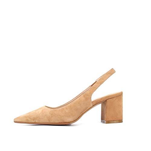 Sandales Compensées 36 Jaune Femme Abricot SDC06080 AdeeSu EU 5 UZnqRw