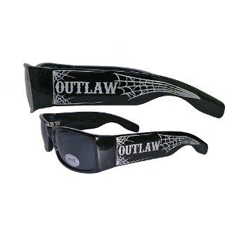 Outlaw Threadz OG01 Webbed Loc Sunglasses (Black, - Sunglasses Outlaw