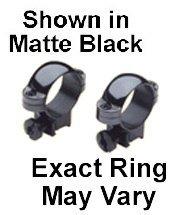 1 22 Rings High Dlx Steel,Blk Gl Burris (Burris Deluxe Ring)