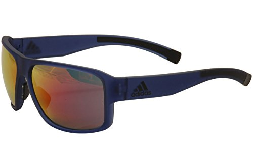 adidas Jaysor Rectangular Sunglasses, Blue Transparent Matte, 60 (Adidas Sunglasses)