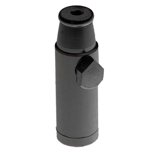 Snuff Bullet Metal Black - rocket sniffer snorter