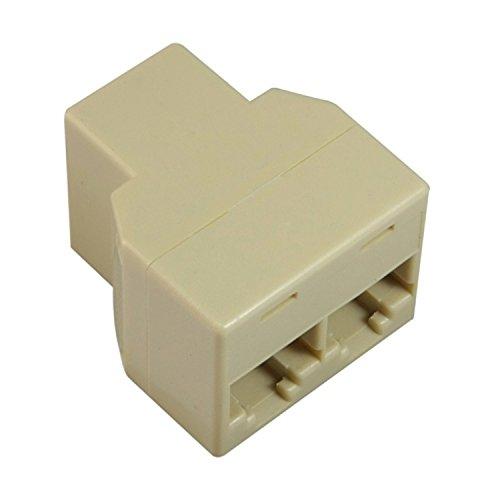 Insten RJ45 CAT 5 6 LAN Ethernet Splitter Connector Adapter PC