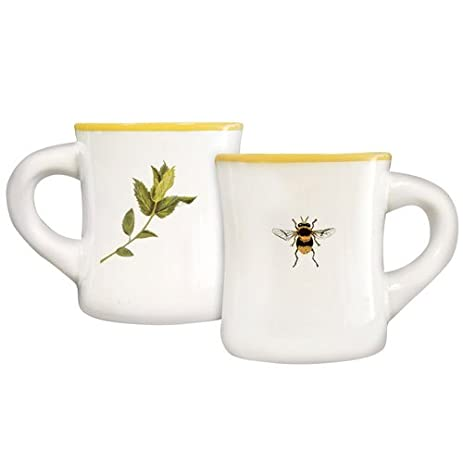 Honey Bee Mug Coffee Or Tea Cup 375 Inch