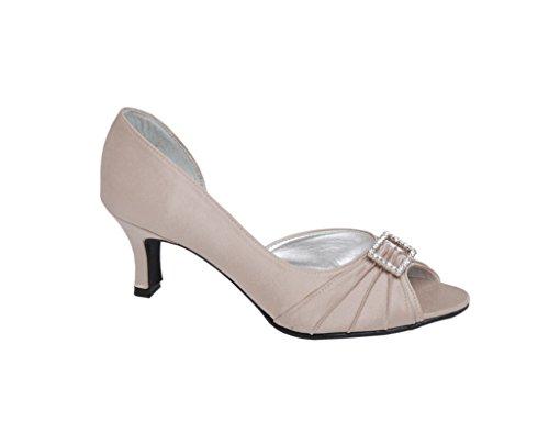 Ladies Trim Raccordo With Finiture In Lexus Con Scarpa Shoe 'd' Signore Lexus Diamante Taupe Diamante Comfort Taupe 'd' Fitting Comfort dXXO0q