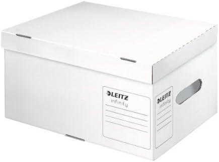 Leitz 61030000 - Caja para archivos (cartón), color blanco: Amazon ...