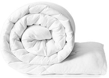 - Bien Living 100% Tencel Lyocell White Comforter - All Season Plush Soft & Silky Duvet Insert - Anti Bacterial - Box Stitched - 50% Down Alternative Quilt - King Size