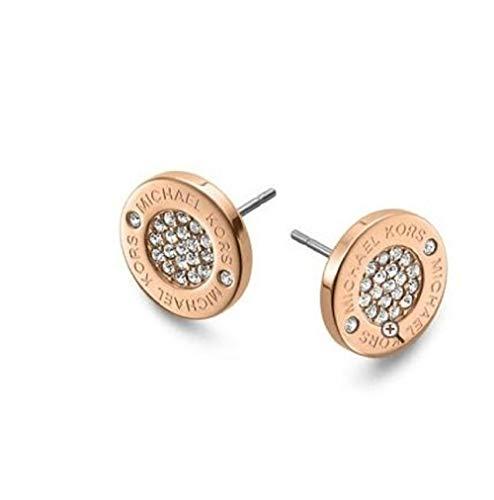 Michael Kors Logo Pave Stud Earrings, Rose Golden MKJ3353 from Michael Kors