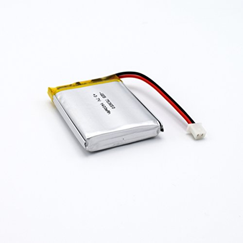 Dual Electronics GPS Receiver Replacement Battery for The XGPS160 SkyPro. 3.7V 1400mAh Rechargeable Lithium Ion Polymer Direct Replacment Battery