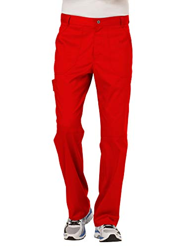 CHEROKEE Men's Fly Front Pant, Red, X-Large from CHEROKEE